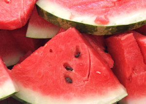 Watermelon for fourth of July picnic